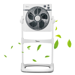 美的(Midea) 电风扇落地转页扇 可升降定时摇头 KYS30-16A 白色