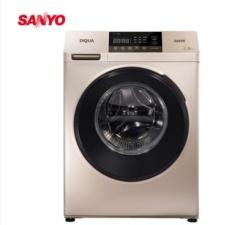 三洋洗衣机(SANYO)DG-F100570BE 10公斤大容量 下排水 变频滚筒洗衣机