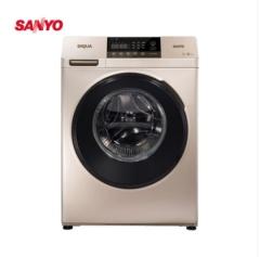 三洋洗衣机DG-F100570BHI 10公斤大容量 下排水 变频洗烘一体 滚筒洗衣机