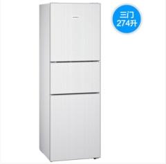 西门子(SIEMENS) KG28US221C  274升白色玻璃面板混冷大容量家用三门冰箱