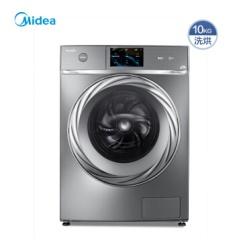 美的洗衣机  VDL1D100ITY4全驱全自动滚筒家用变频智能洗衣机家用 巴赫银