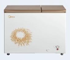美的冷柜-BCD-220DKGM旋律金(玻璃)