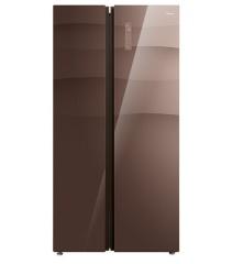 美的冰箱-BCD-550WKGPZM格調咖